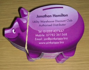 Utility Warehouse Business Cards